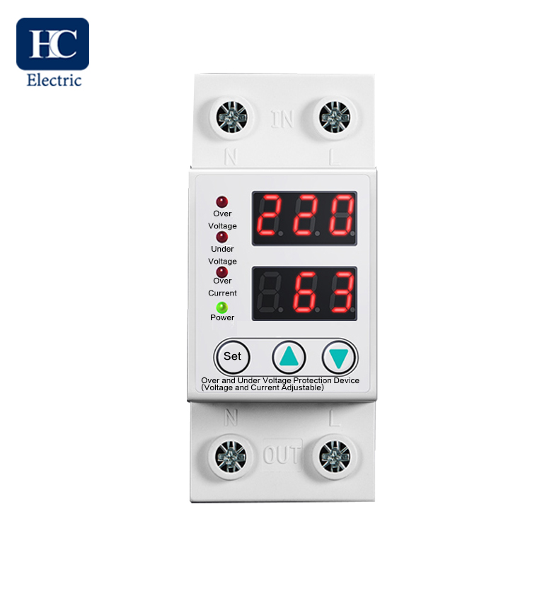 Protection Voltage Adjustable and Current Adjustable 230V auto recovery over and under voltage protection device with automatic reconnect protective relay protector