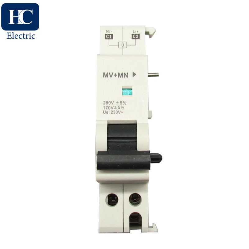Schneider C65 Over Voltage Under Voltage trip release Voltage loss protection MV+MN MNs trip release for Miniature Circuit Breakers MCB accessories