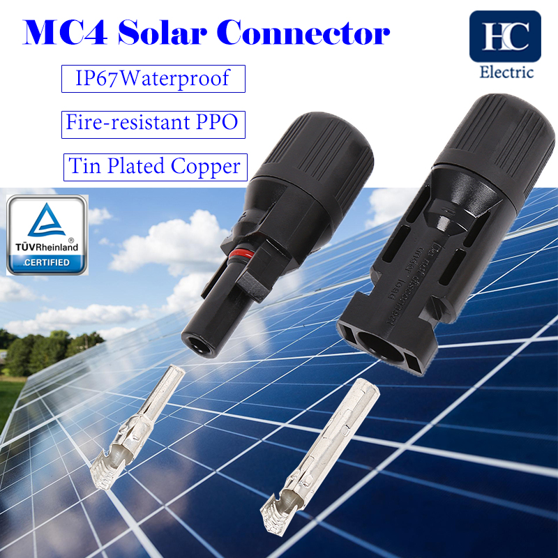 Solar MC4 connector Male Female Waterproof IP67 TUV Solar connector for Solar Panel Cable PV Systems