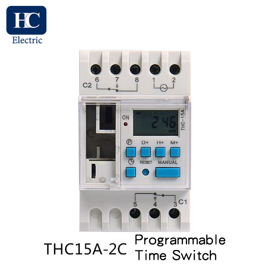 Weekly digital time switch 2 Channels THC15A-2C 16A 20A 25A 30A