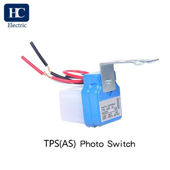 Photocell lighting control switch for wall-mounting and/or pole installation TPS(AS)