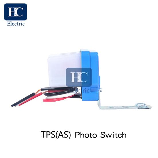 Photocell lighting control switch for wall-mounting and/or