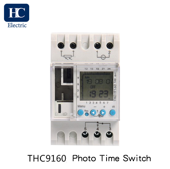Weekly digital time switch with Photocell lighting control THC9160